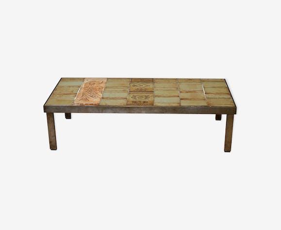 Table Basse De Roger Capron En Céramique De Vaullaurtis 50