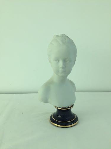 Buste Jeune fille d'après Houdon, Limoges France