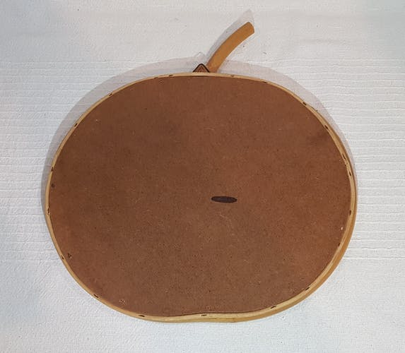 Miroir en rotin bambou en forme de pomme - 32x27cm