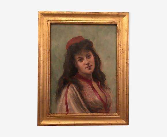 Femme au béret rouge