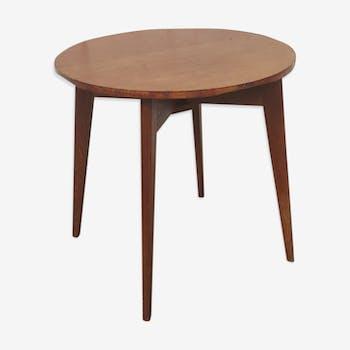 Table basse pliante 2 rabats en bois années 60