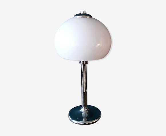 Lampe champignon pied tulipe chromé années 70