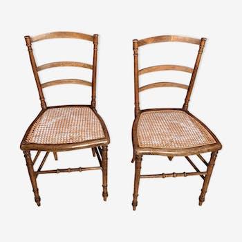 Paire de chaises art nouveau