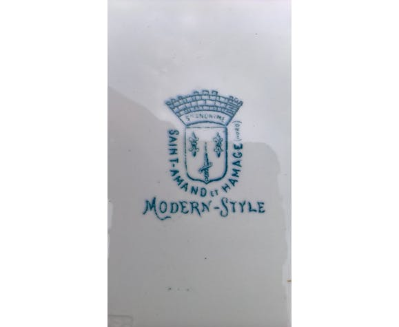 """Assiette saint amand et hamage """"modern style"""""""