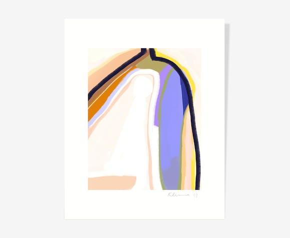Brutalist Gouache — 40 x 50 cm
