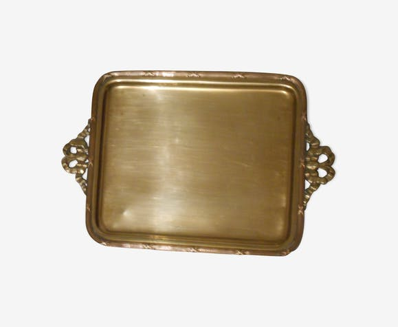 brass tray louis XVI style