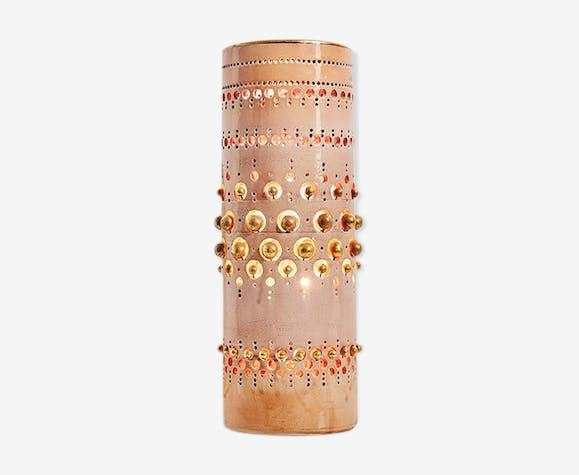 Lampe céramique et or