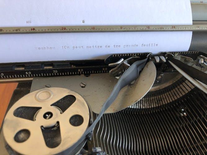 Machine à écrire Remington grand cylindre
