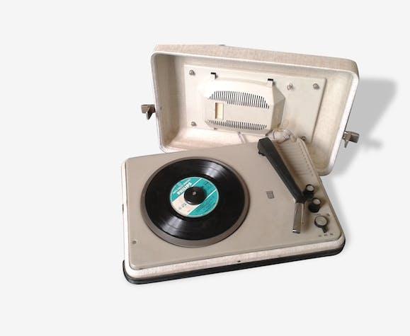 tourne disque radiola vintage plastique noir vintage 88949. Black Bedroom Furniture Sets. Home Design Ideas