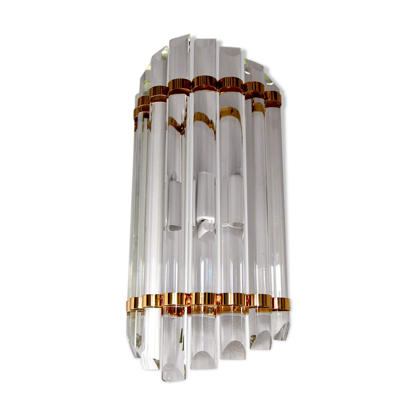 Pair of vintage murano six tier felci wall sconce for sale at stdibs