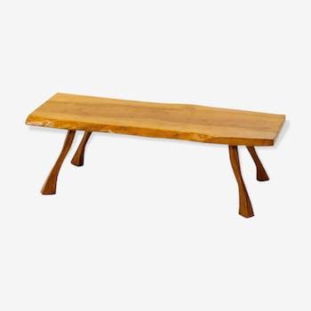 Table Basse en dalles d arbres années 1960