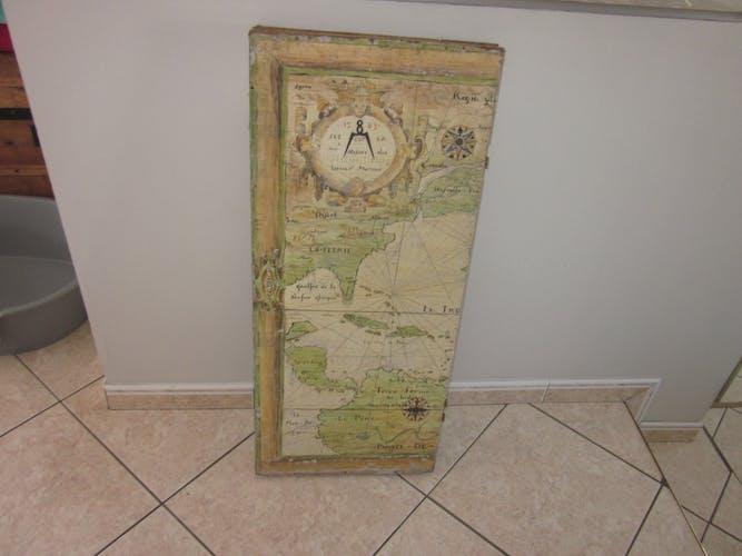 Paravent ancien en bois peint