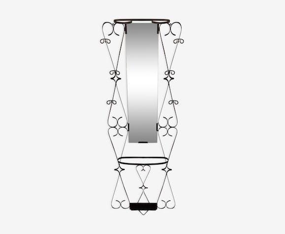 porte manteaux vestiaire entree miroir fer forg vintage. Black Bedroom Furniture Sets. Home Design Ideas
