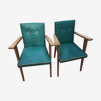 Lot 2 fauteuils vintages