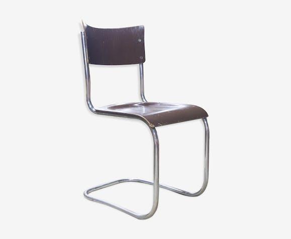 chaise mart stam ann es 30 bois mat riau marron industriel kvip1ti. Black Bedroom Furniture Sets. Home Design Ideas
