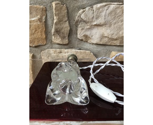 Art deco crystal lamp