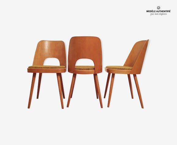 Ensemble de 3 chaises de salle à manger par Oswald Haerdtl pour Ton