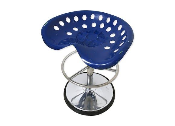 Tabouret Mirima vintage des années 70 - métal - bleu - vintage ...