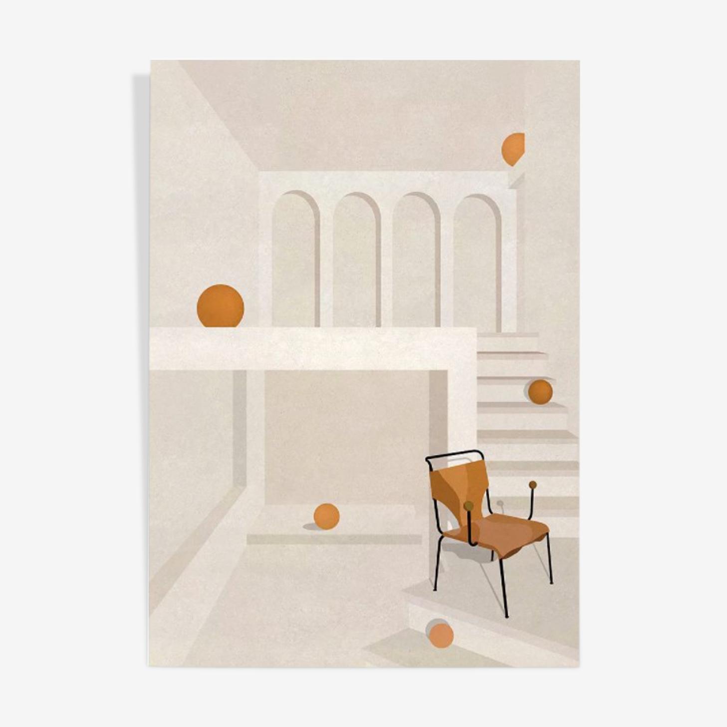 Illustration chair 'Bola' by Linda Bo Bardi