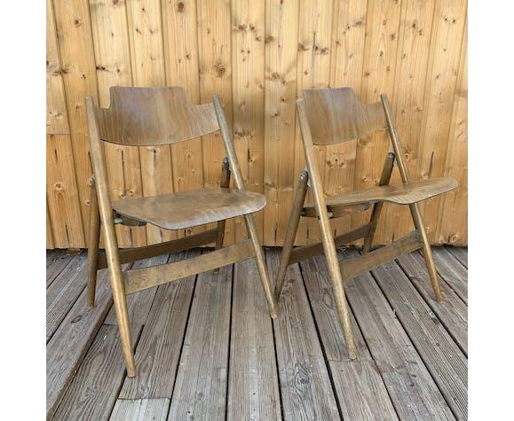 Paire de chaises SE18 de Egon Eiermann