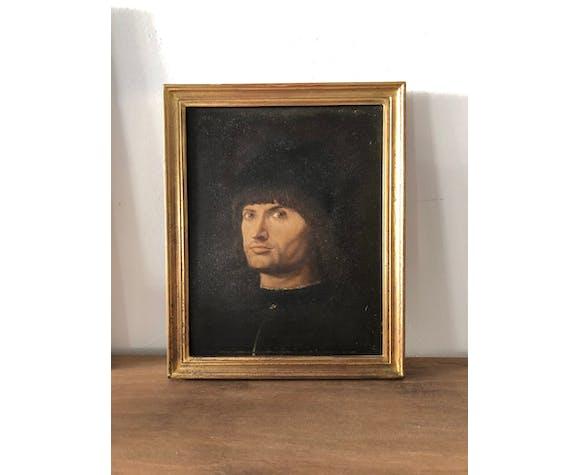 Portrait représentant Le Condottière, peinture à l'huile sur bois.