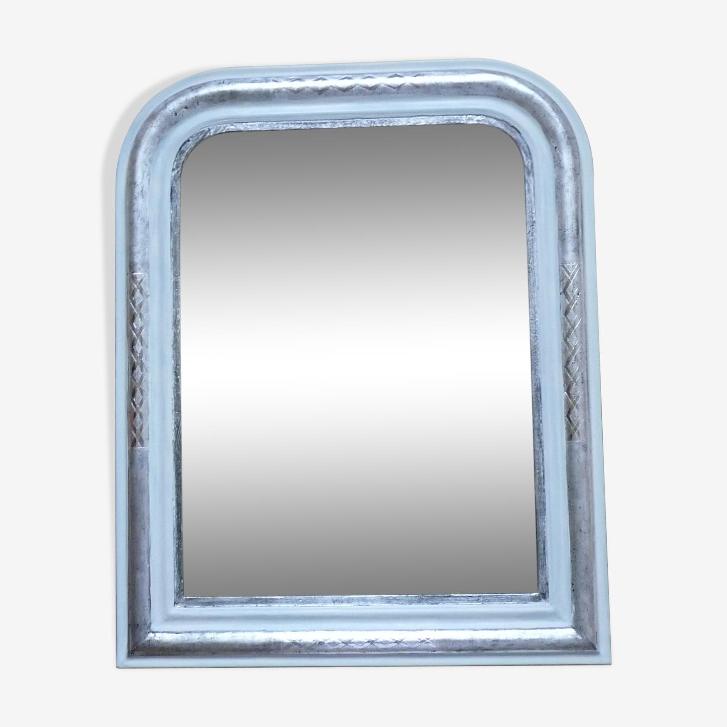 Miroir style Louis Philippe rénové en argent
