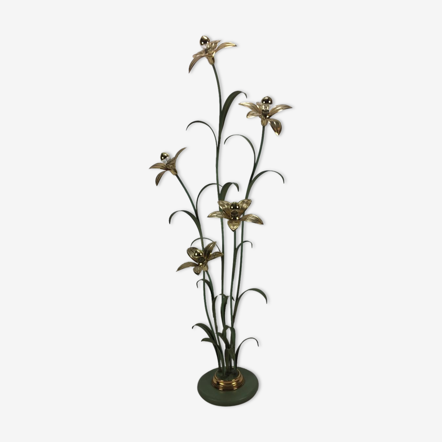Lampadaire fleur 1980s