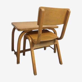 Ensemble bureau et chaise baumann, 1960