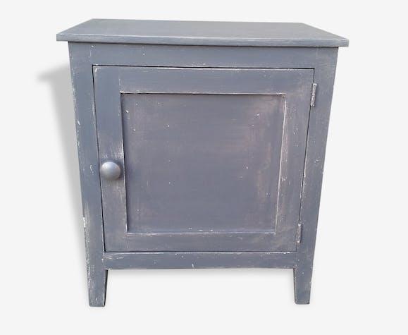 petit meuble d 39 appoint bois mat riau gris. Black Bedroom Furniture Sets. Home Design Ideas
