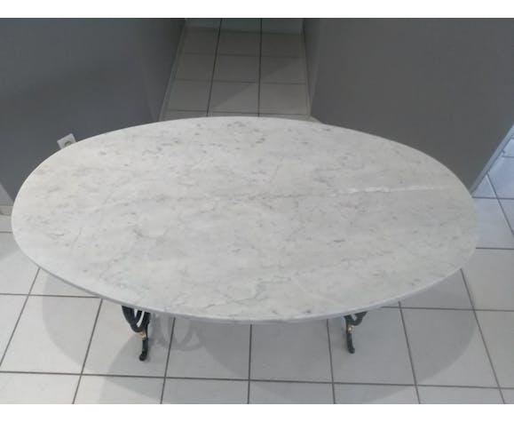Table marbre de métier ou bistrot années 1920