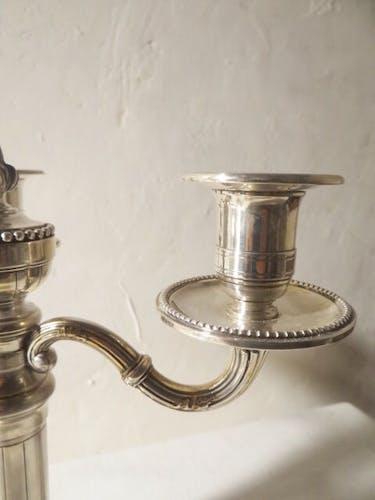 Paire de chandeliers poinçon MinerveC
