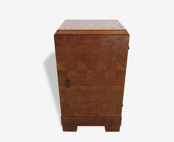 Petit Meuble Art Deco Plateau En Marbre Wood Wooden Art Deco