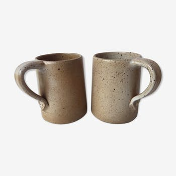 Duo de chopes mugs en grès du Marais