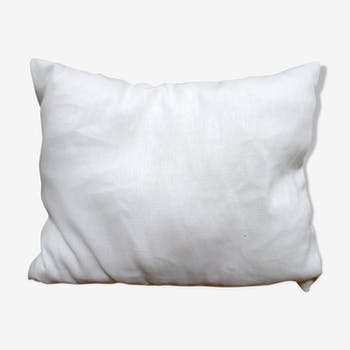 White linen cushion