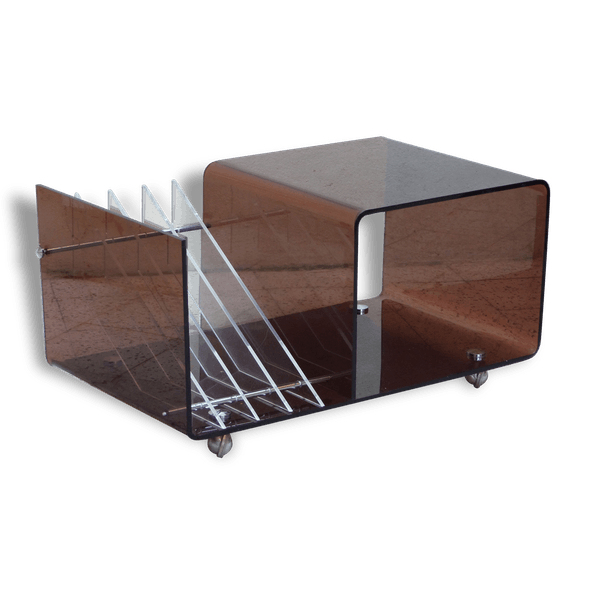 meuble tv plexiglass porte revue et range vinyles. Black Bedroom Furniture Sets. Home Design Ideas