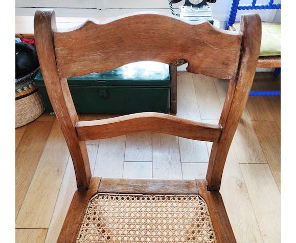 Chaise vintage cannée