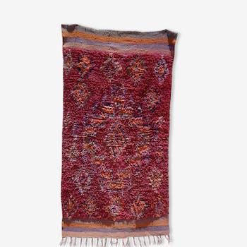 Tapis berbere du Maroc purple rain - Tapis Azilal 104x194 cm