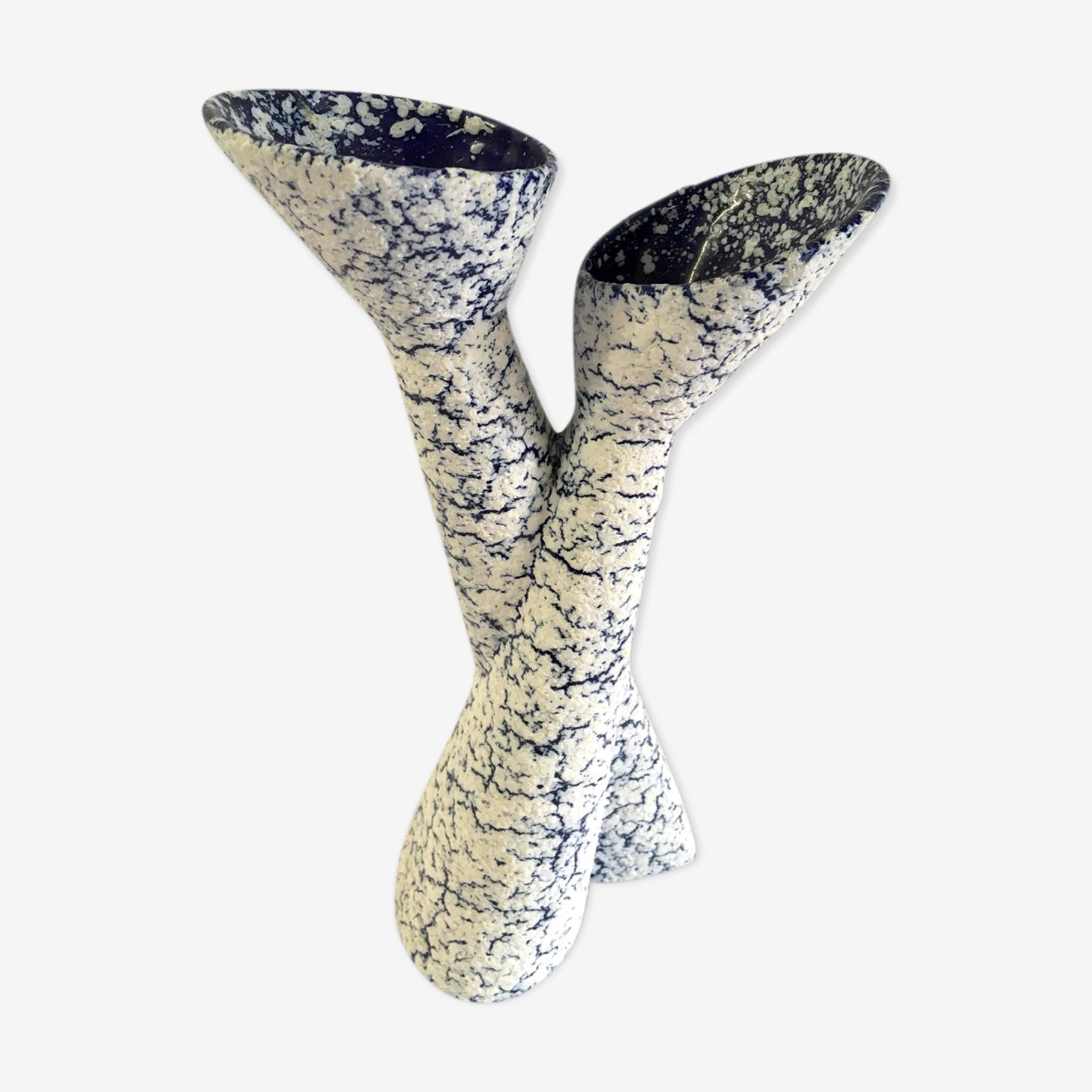 Duo of praticality ceramic fat lava circa 60