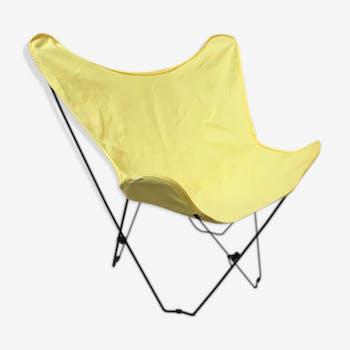Fauteuil chauve-souris avec housse en toile jaune