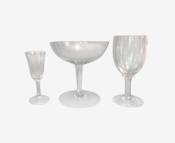 Service de verre en cristal irisé