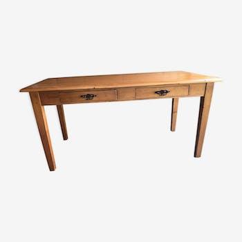 Table de ferme avec deux tiroirs