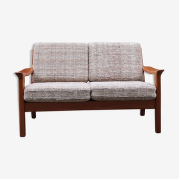 Scandinavian two-seater teak sofa from the 60s