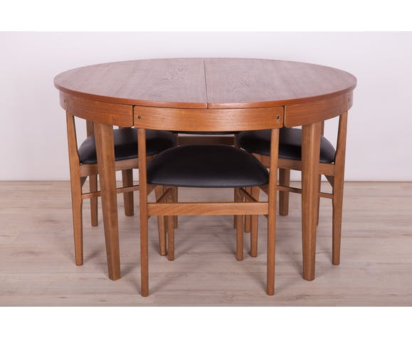 Mid Century Teak Dining Table Chairs Set From Mcintosh 1960s Set Of 5 Selency