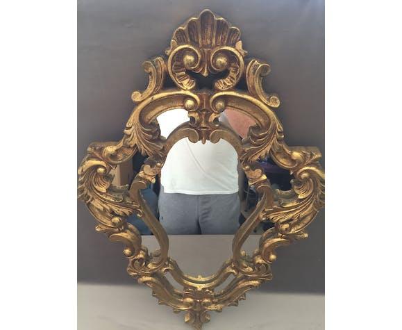 Miroir a parcloses ancien style Louis XV rocaille rococo art