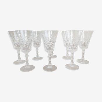 Set de 8 verres vin rouge cristal