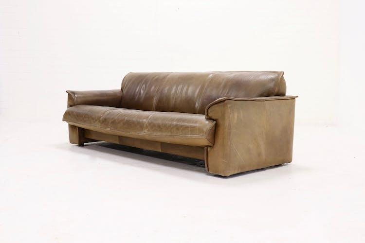 Canapé 3 places en cuir par Hugo de Ruiter, années 1970