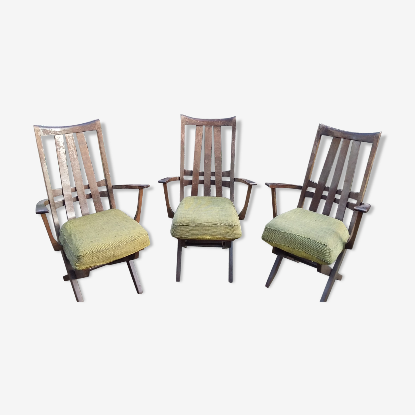 3 fauteuils relax sièges triconfort vintage 50