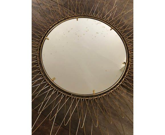 Brass sun mirror 59cm