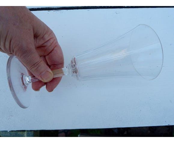Ensemble de 6 verres à pied anciens en cristal