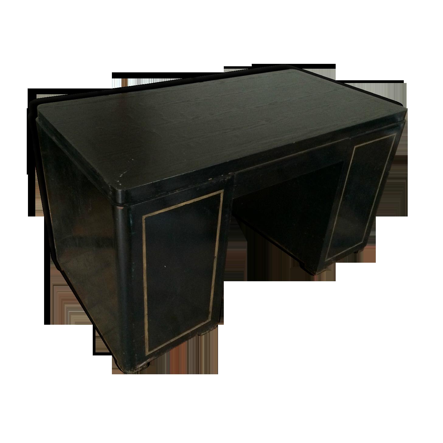 Bureau en bois noirci bois matériau noir vintage vrxd zq